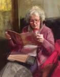 Clairette lisant