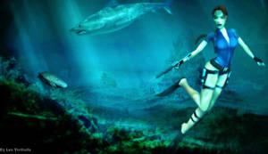 Lara Croft under water two