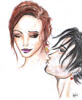 Kiss me please by LeksaArt