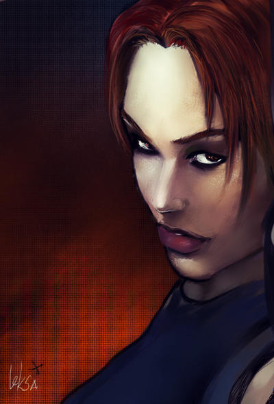 Lara Croft face. TRAOD by LeksaArt