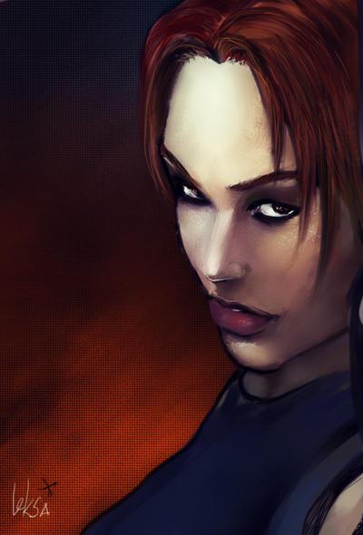 Lara Croft face. TRAOD by LeksaArt