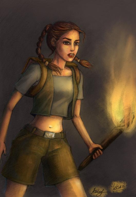 Little Lara Croft by LeksaArt