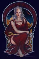 Daenerys Targaryen art nouveau