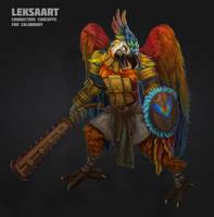 parrot warrior by LeksaArt