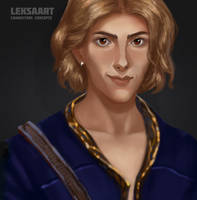 Cleric portrait by LeksaArt