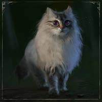 CAT FAMILIAR by LeksaArt