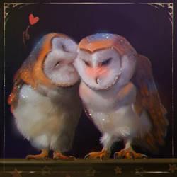 Owls  by LeksaArt