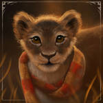 Gryffindor little lion by LeksaArt