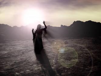 Deserted Dancer - Silhouette Lighting Practice by Xhenya