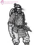 Lars the Half-Orc Samurai - tRPG character