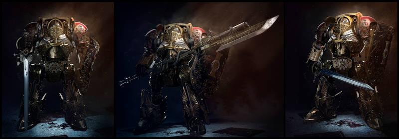 Adeptus custodes contemptor dreadnought7
