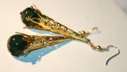 golden earrings by jaadvyga