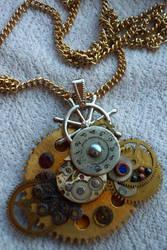 clockwork pendant by jaadvyga