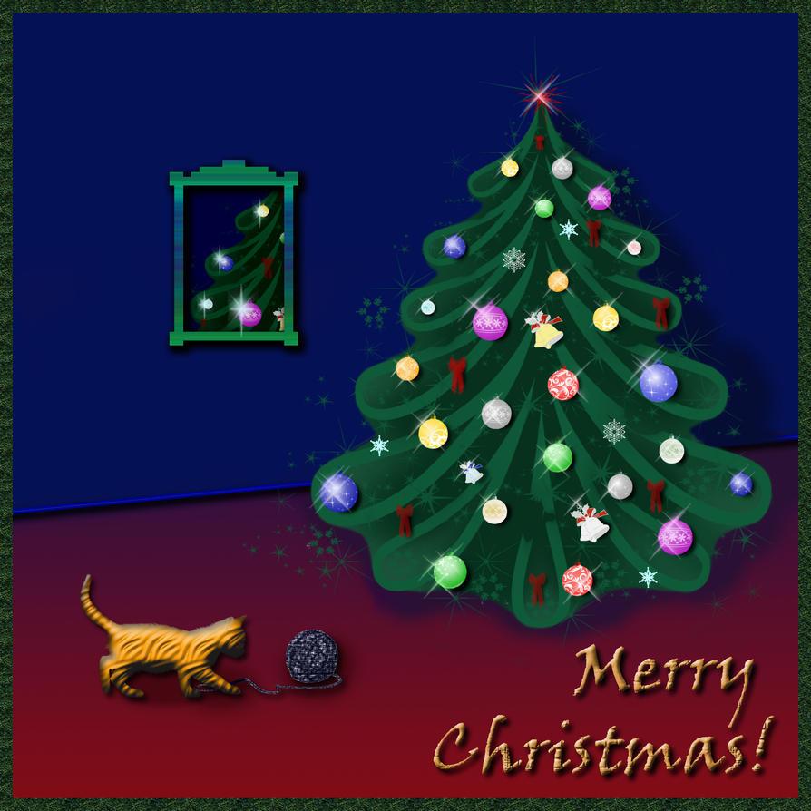 Merry Christmas+Happy Birthday by DanaAnderson