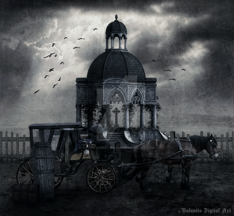 The Funeral by ValantisDigitalArt