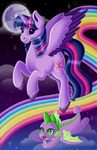 Lisa Frank'd Twilight Sparkle