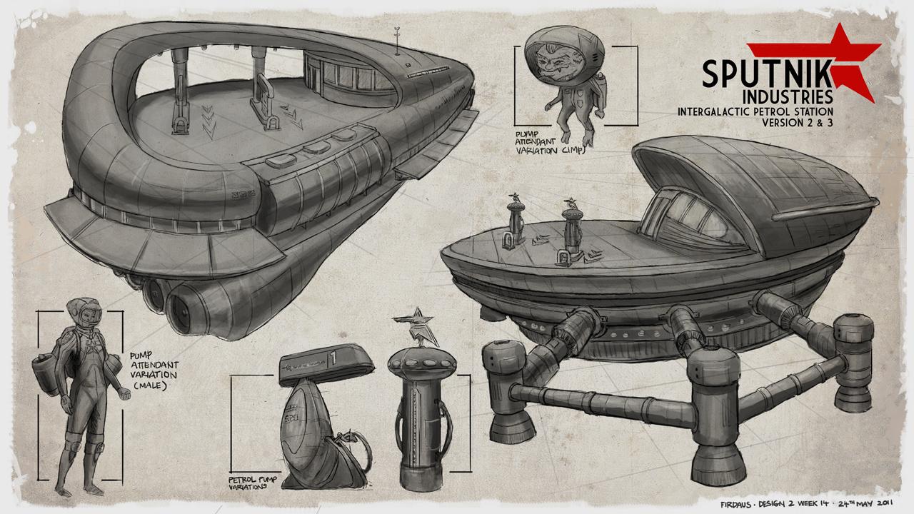 Sputnik Industries - Petrol Station Variations by freakyfir