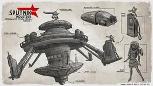 Sputnik Industries - Petrol Station Design by freakyfir