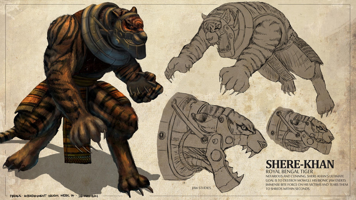 The Jungle Book - Shere-Khan by freakyfir