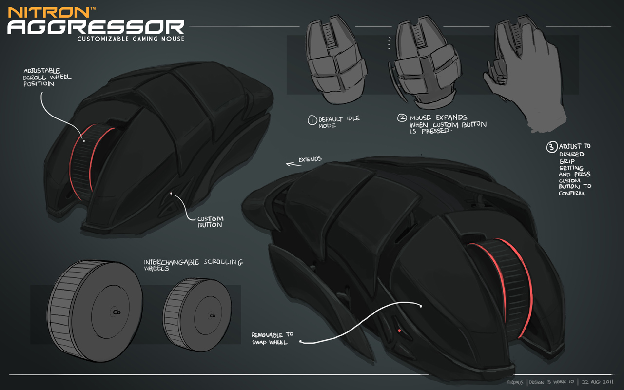 Nitron Gaming Mouse by freakyfir