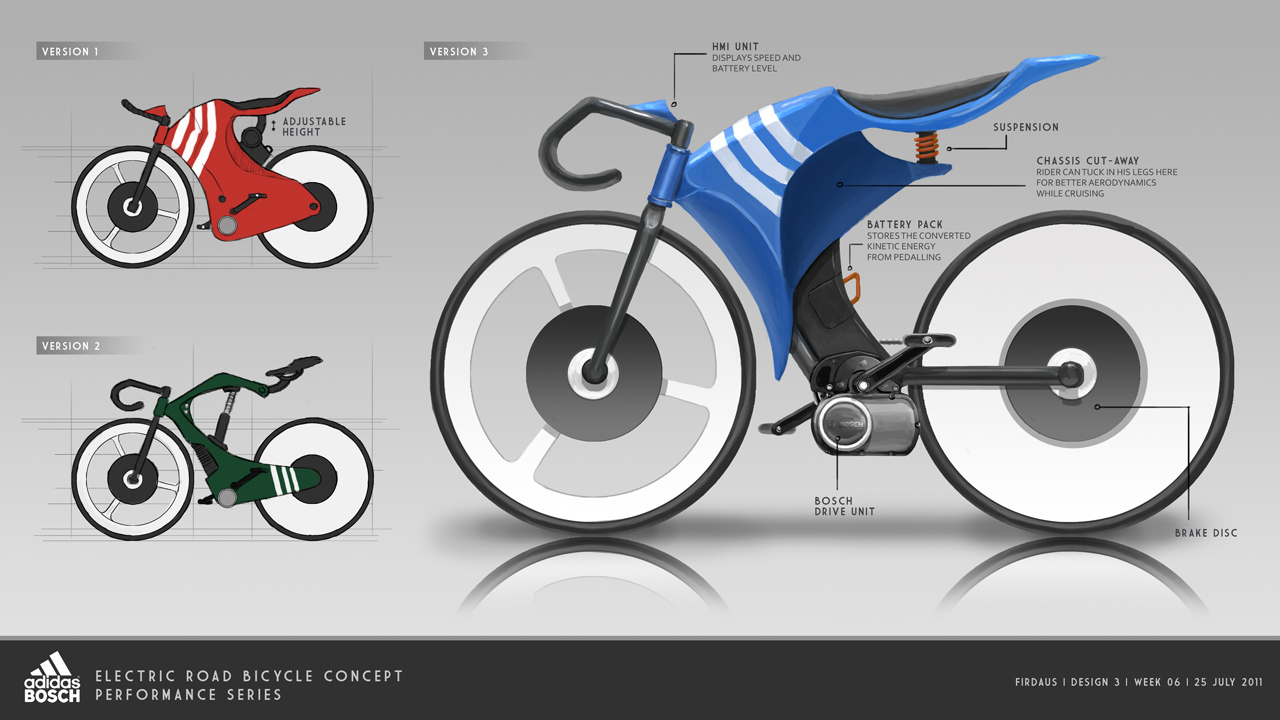 Adidas X Bosch Bicycle Concept by freakyfir