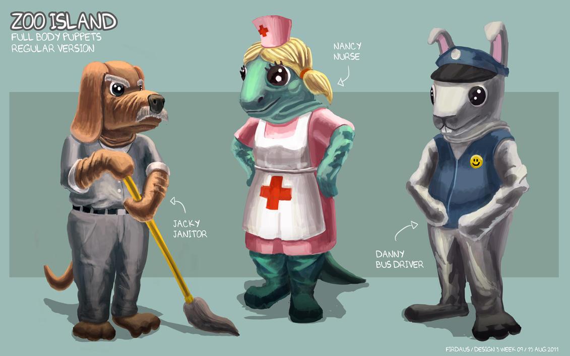 Zoo Island Body Puppets - Regular Version by freakyfir