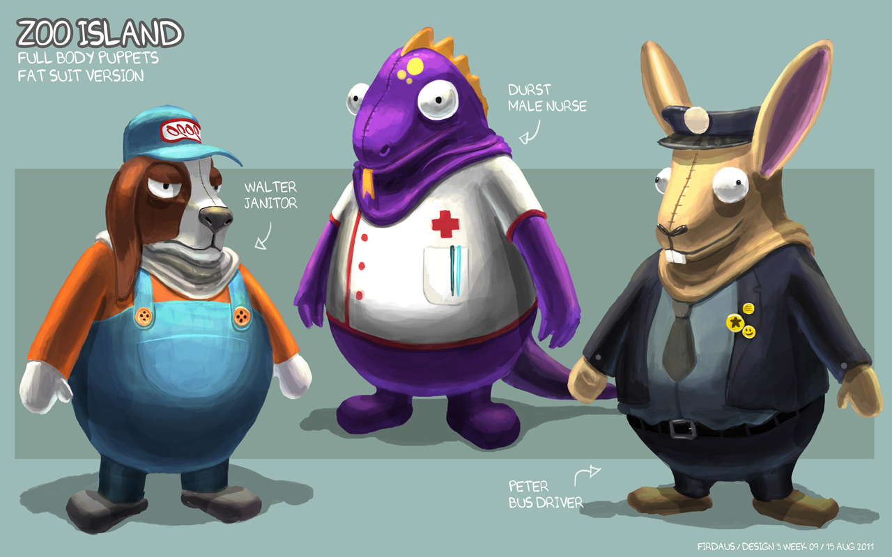 Zoo Island Body Puppets - Fatsuit Version by freakyfir