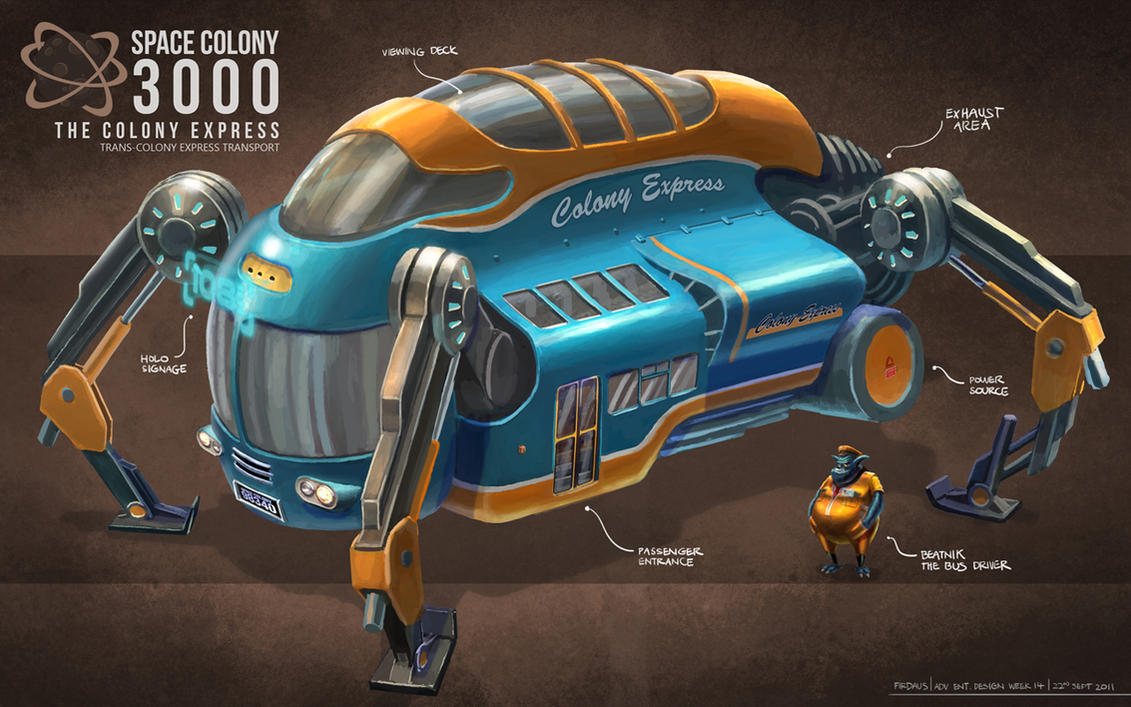 Space Colony 3000 - The Colony Express by freakyfir