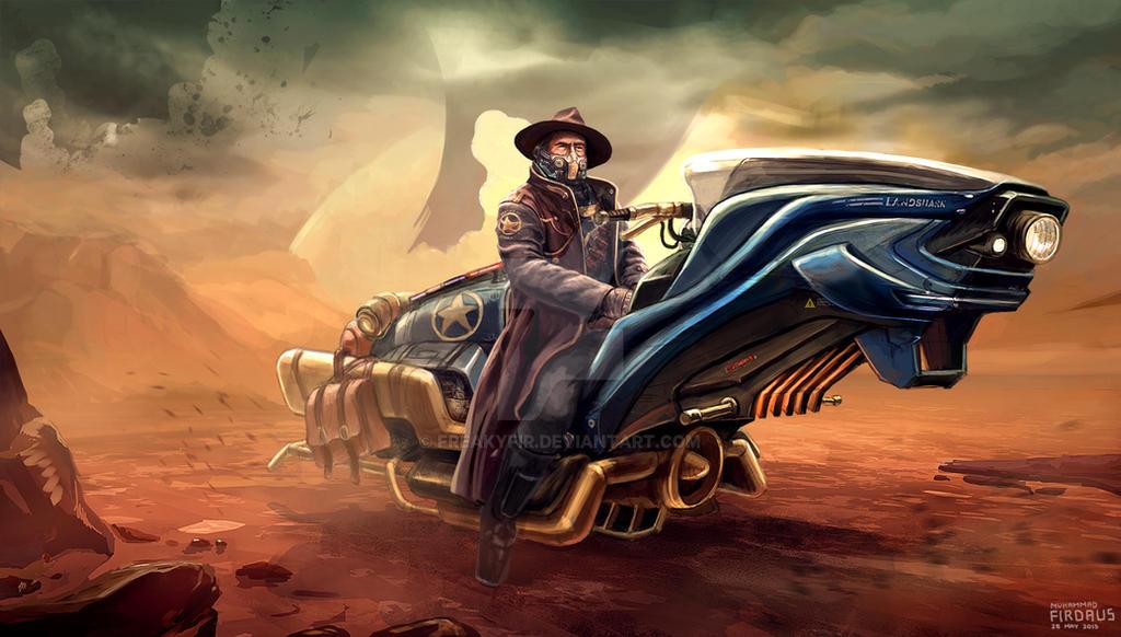 Landshark Hoverbike by freakyfir