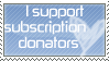 no subscription needed stamp by NinjaBunnii