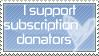 no subscription needed stamp by NinjaBunnii
