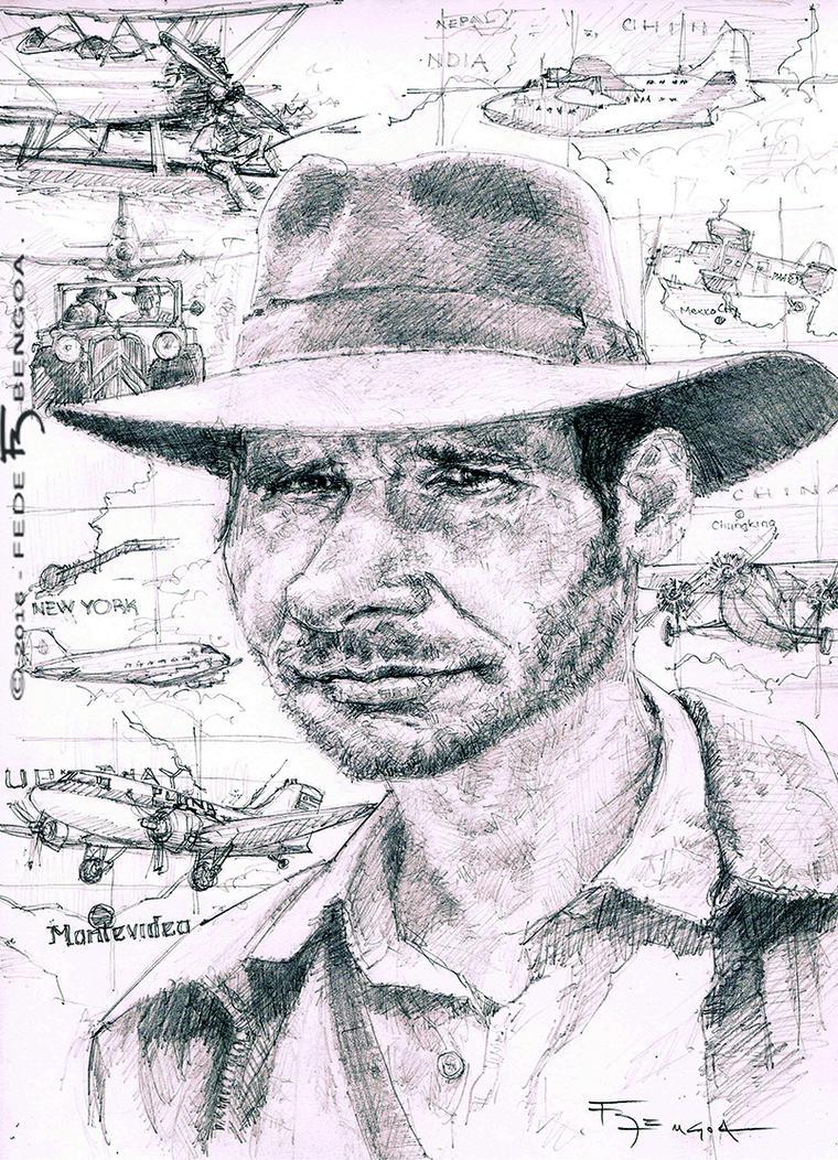 Indiana Jones - Harrison Ford by FedeBengoa
