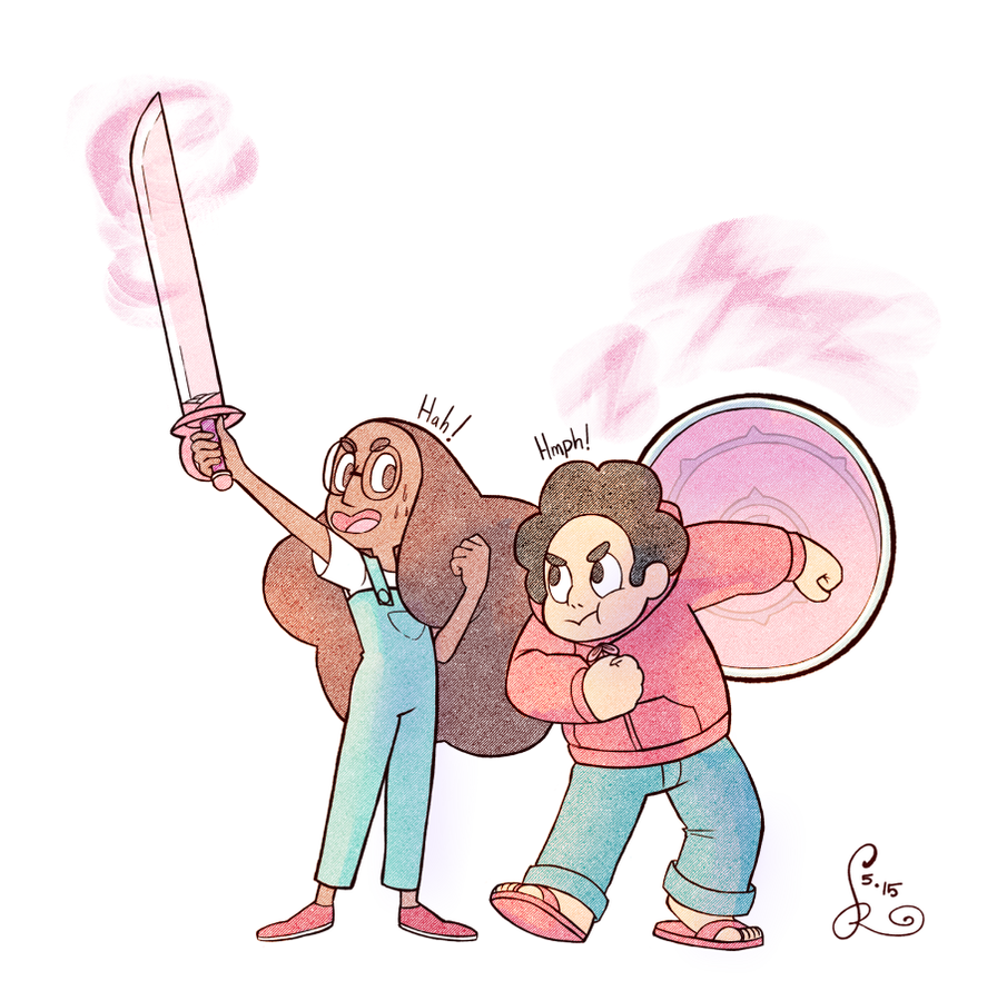 Stevonnie feels like she would be the perfect warrior. ON TUMBLR: osreido.tumblr.com/post/118314… Thanks for commissioning!