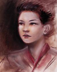 Geisha portrait by dais-firefly