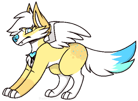 Azrael pagedoll pixel YCH example