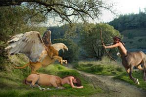 Centaur Rescue by stillarebel
