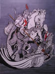 Saint George And The Dragon by stillarebel