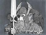 Odin and Ravens 1 by stillarebel