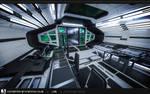 Lab Hallway - Mock-up Render
