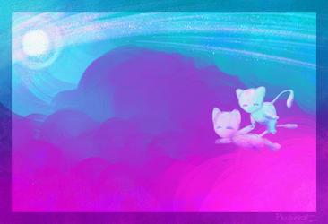 mews exploring dreamland~~~ by Pikachowcat