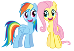 Dash and Fluttershy singing