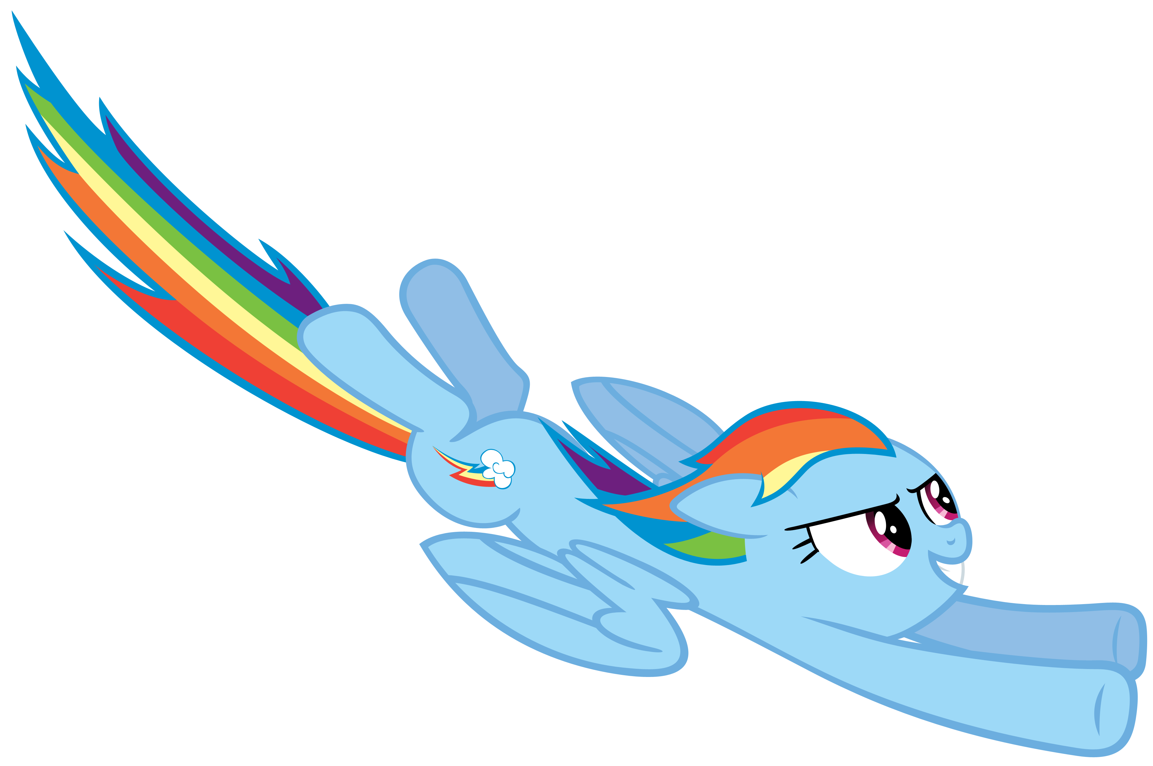 Rainbow Dash flying by Stabzor