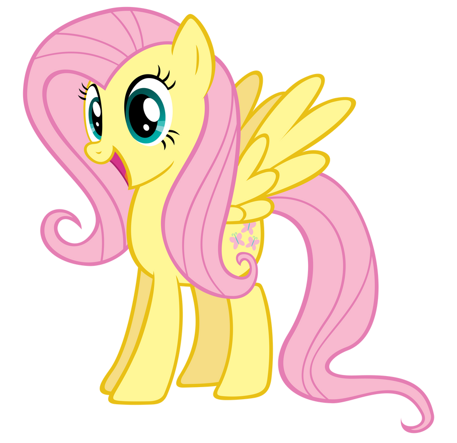 Excited Fluttershy by Stabzor Mlp Fluttershy Happy Vector