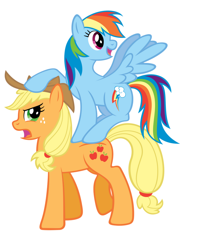 [Image: rainbow_and_aj___watch_the_hat_by_stabzor-d4l1cer.png]