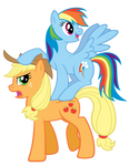 Rainbow and AJ - watch the hat