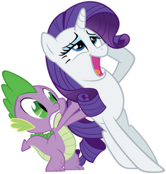 Spike and swooning Rarity