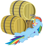 Rainbow Dash and all the cider she can drink