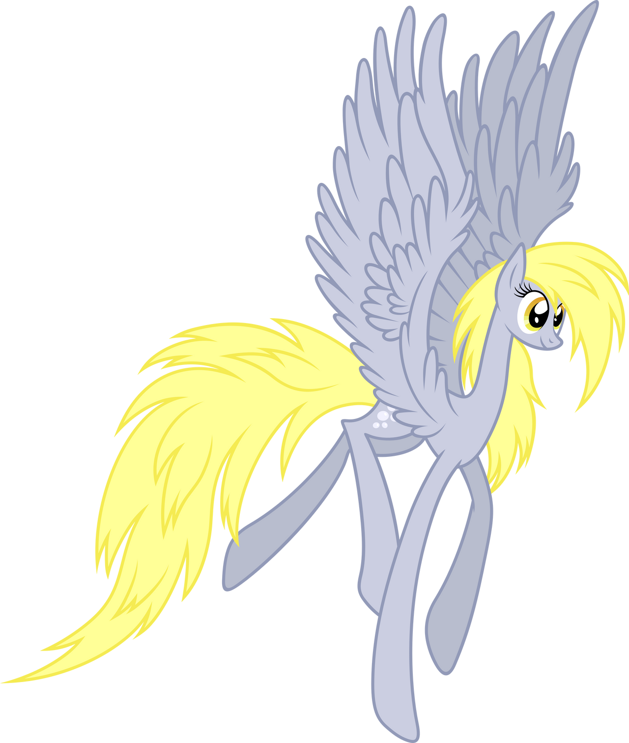 Derpy flying by Stabzor