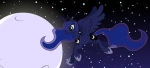 Luna at night banner