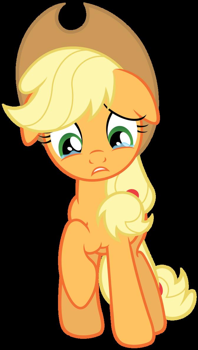 Sad Applejack by Stabzor